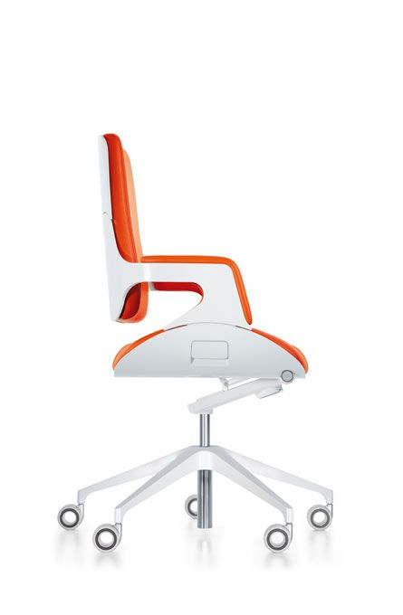 Office chair in orange and white design and specify for Office design yorkshire