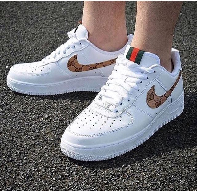 acheter populaire d7467 2e762 Gucci Nike Air force one low | Shoes | Chaussures nike ...
