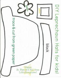 St. Patricks Day crafts for kids printables