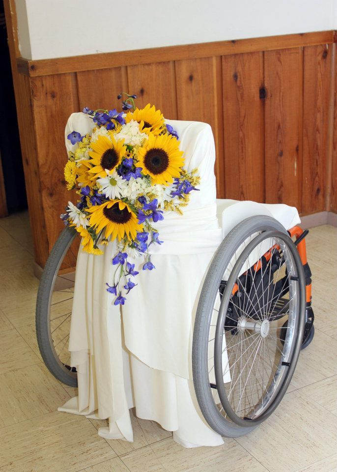You never know. I may be too weak to stand on my wedding day. And this is a lovely idea. & I would add glitter on to the wheels