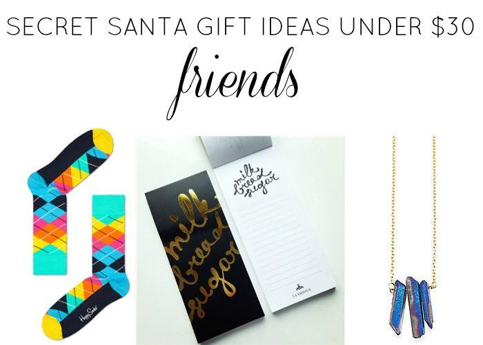 secret santa gift ideas under  30  friends