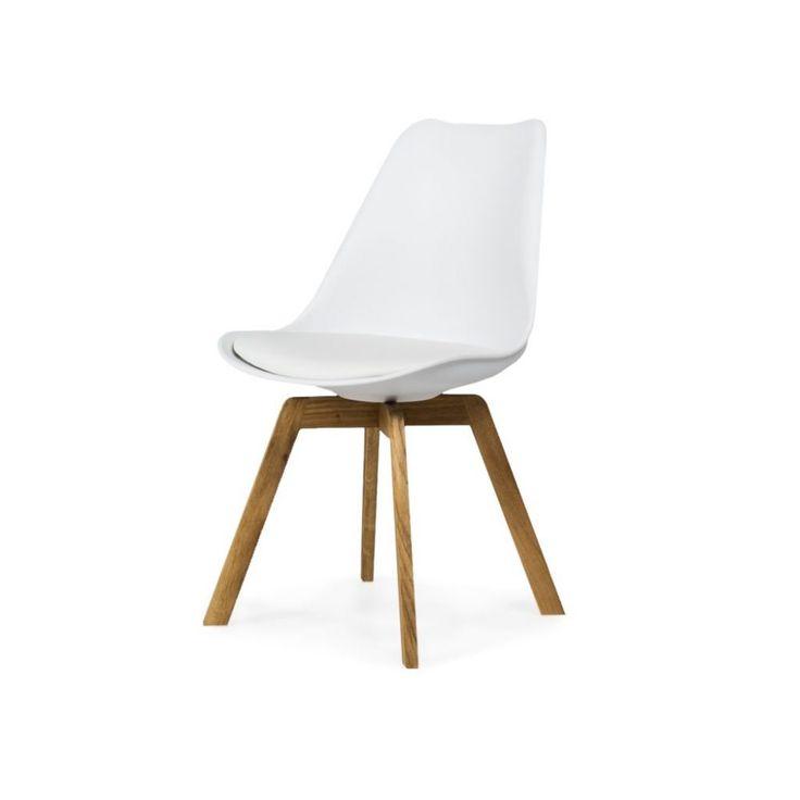 Chloé stol vit/ek med vadderad sittdyna till köket kanske?