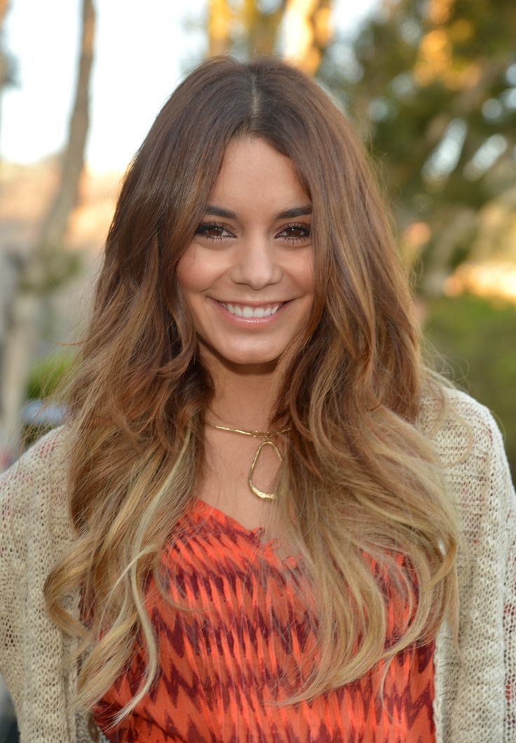 vanessa hudgens's pretty ombre blonde waves