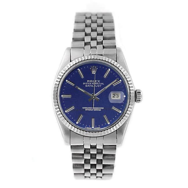 Refurbished Pre-owned Rolex Men's Datejust 16014 Stainless Steel Watch