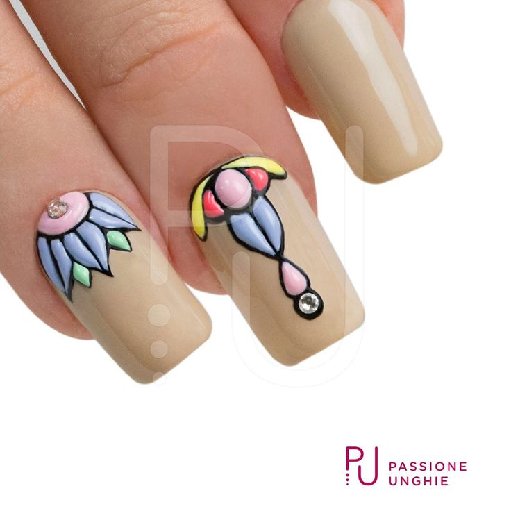 #passopasso #step #SweetBloom con i #geluv colorati della collezione #FAST.  #CreamyBuilder #Cristalli #Hazelnut #Swarovski #Crystal  #nailart #nails #nail #passioneunghieofficial   #uñasdecoradas #uñas