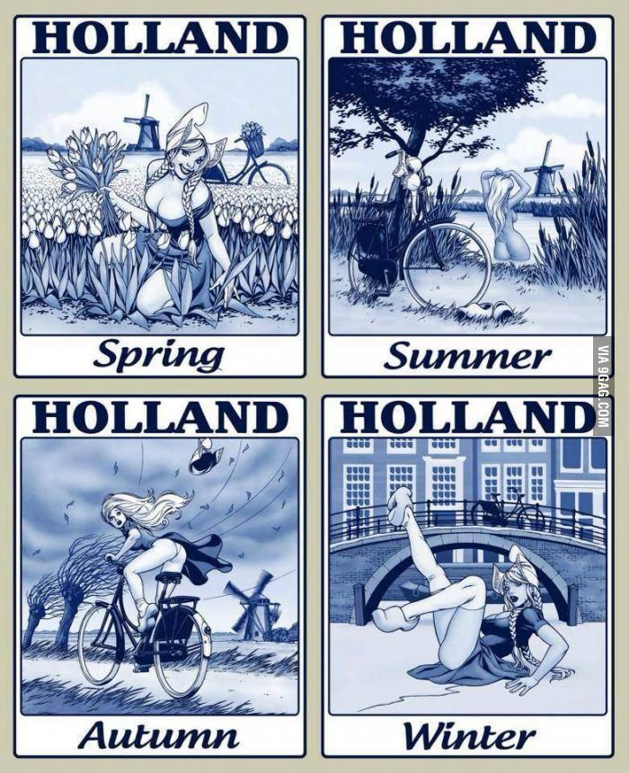 The four seasons in Holland! Holland, Pictures, Memes of