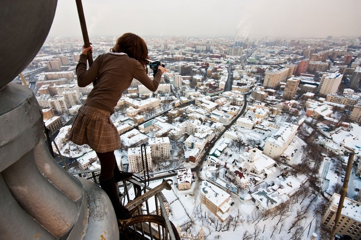 Nowadays, the term roofer applies to people who climb roofs for fun and take photographs. 20-year-old Vadim Makhorov from Novosibirsk started out climbing up roofs, dams, and drainpipes in Russia, before venturing abroad. Source: Vadim Makhorov / sellyourphotos.net #russia #photography