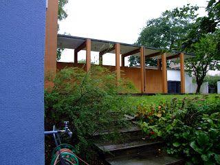 Fra balkongen: Villa Dammann - Arne Korsmo