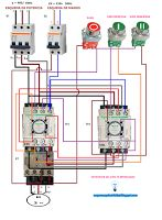 Esquemas eléctricos: Inversión de motor trifásico con inversión de giro...