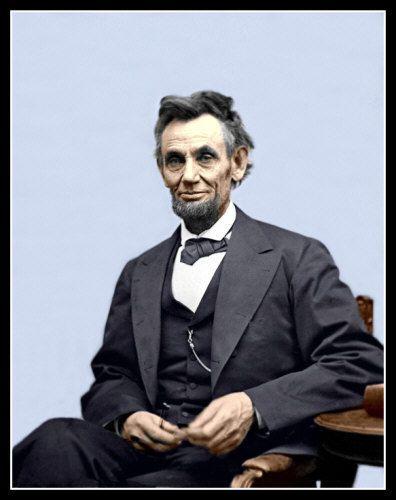 Abraham Lincoln Photo Large 11X14  President Honest Abe Civil War #3 COLORIZED