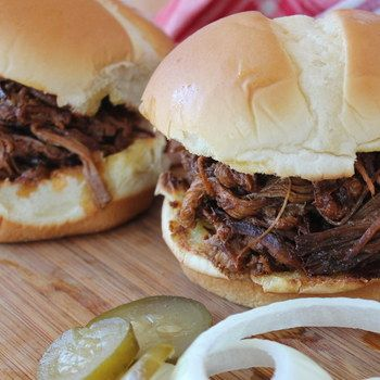 No. 6 slow cooker recipe of 2014 on www.slowcookerclub.com - Slow Cooker Pulled Beef Brisket