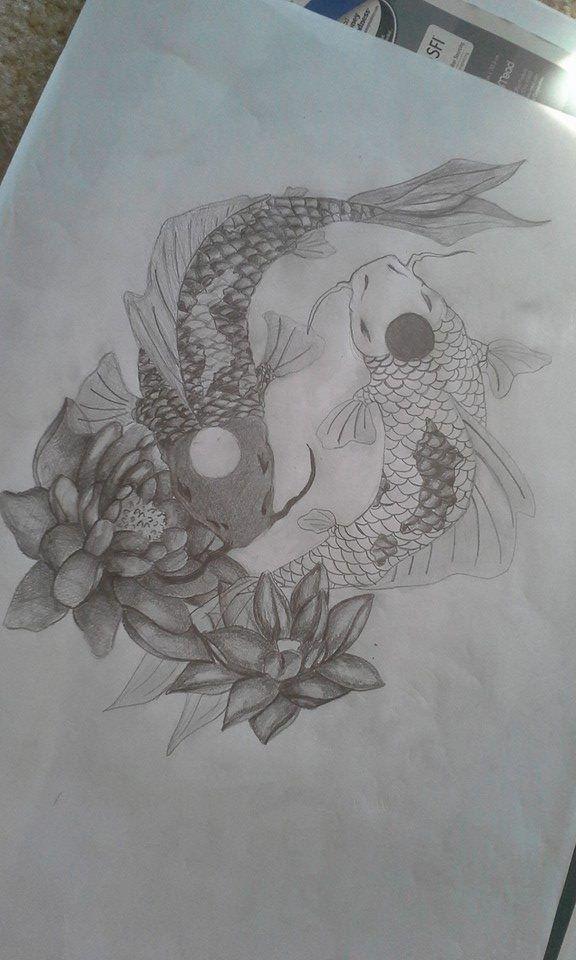 Yin Yang Koi Fish Tattoo Design by ClaireWinke   tatoos ...