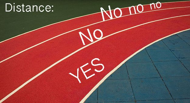 Anticipating the lane assignments: | 25 Things Only Track And Field Runners Can Understand