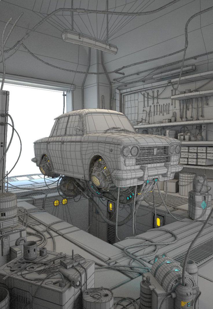 ArtStation - Fly Fiat 1500, Carmine Napolitano