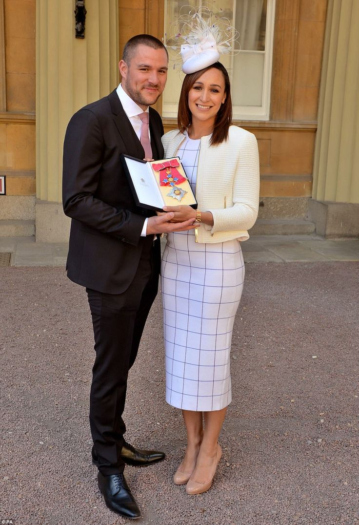 Jessica Ennis-Hill was made Damme Commander by Prince William. Beaming with pride: After receiving her CBE at the investiture ceremony, she posed with her doting husband Andy Hill