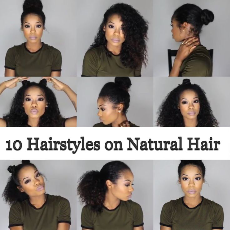 10 Quick and Easy Hairstyles on Natural Hair - 3B/3C                                                                                                                                                                                 More