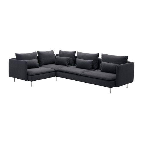 SÖDERHAMN Corner sofa - Samsta dark gray  - IKEA add chaise lounge and i'm in love. $978