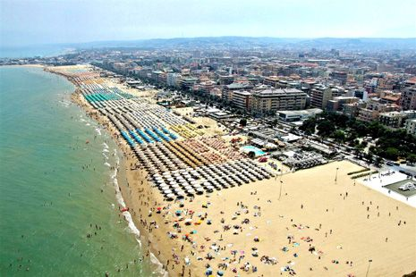 Pescara, Italy. The largest and most crowded beach I've seen until now!!! Where us DiDimizios are from!