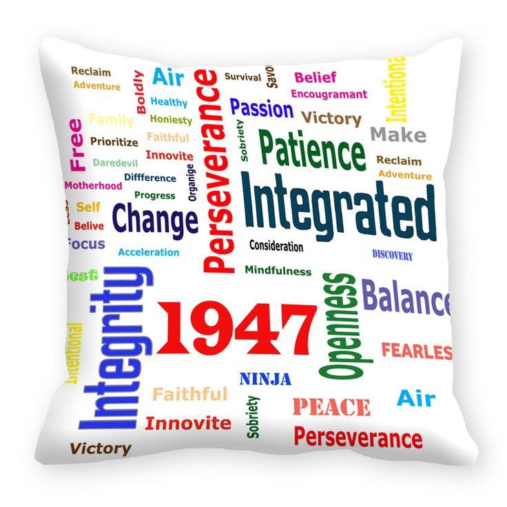 Painted Graffiti 1947 Cushion cover (16x16)  #cushions #cushioncovers #pinit #pinterset #shazliving #interior #homedecor Shop at: https://www.shazliving.com/