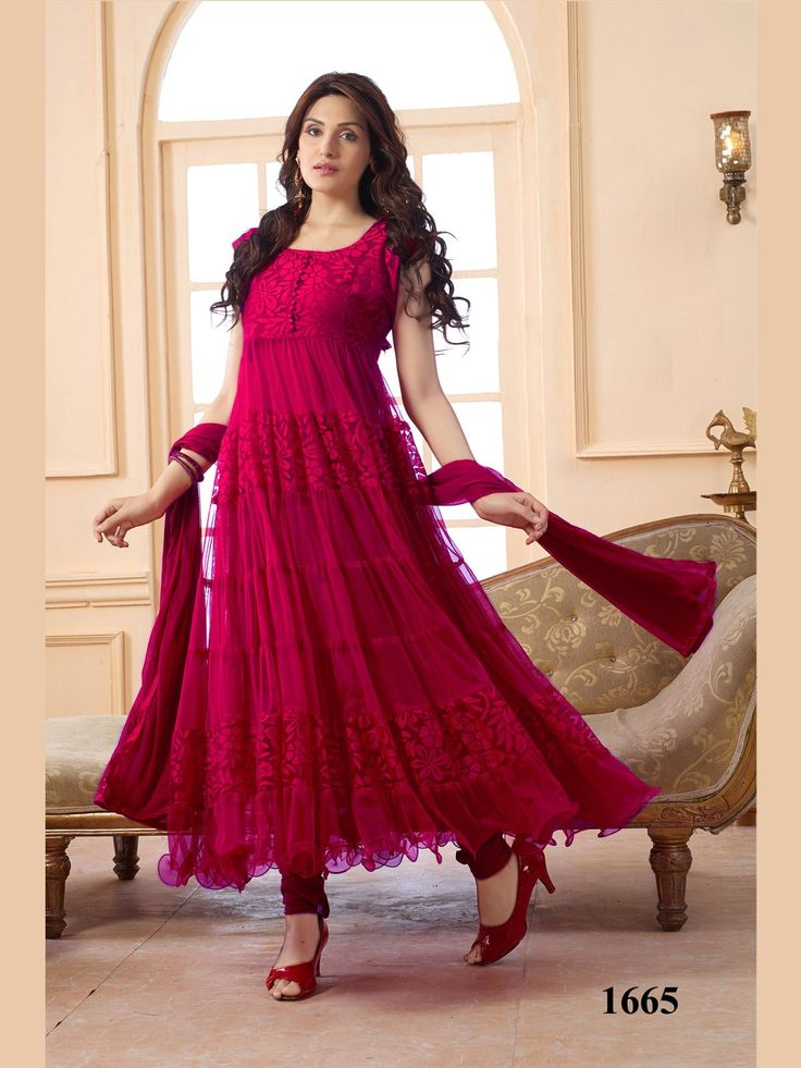 Online Shopping for VandV Different Pattern In Dark Pin | Salwar Suit | Unique Indian Products by V & V shop - MV & 56653115640