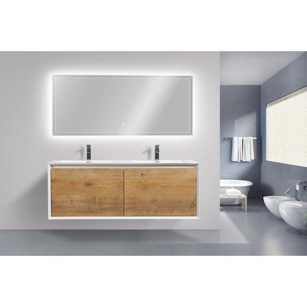 Murdock 59 Wall Mounted Double Bathroom Vanity Set Modern Bathroom Vanity Contemporary Bathroom Vanity Bathroom Vanity