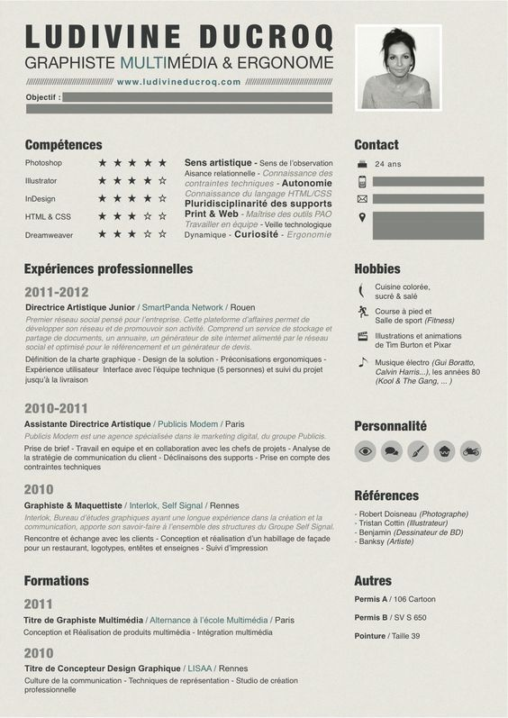21 best resume images on Pinterest Page layout, Creative resume