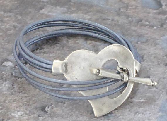 Wrap Leather Bracelet Wrap Bracelet Matte by bijuteriicusuflet
