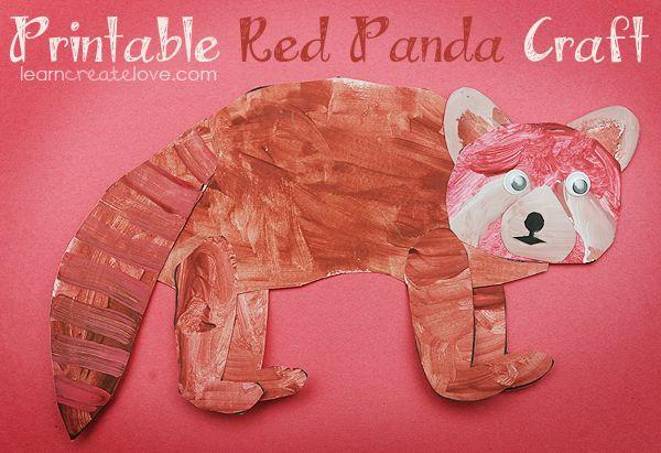 { Red Panda Printable Craft }