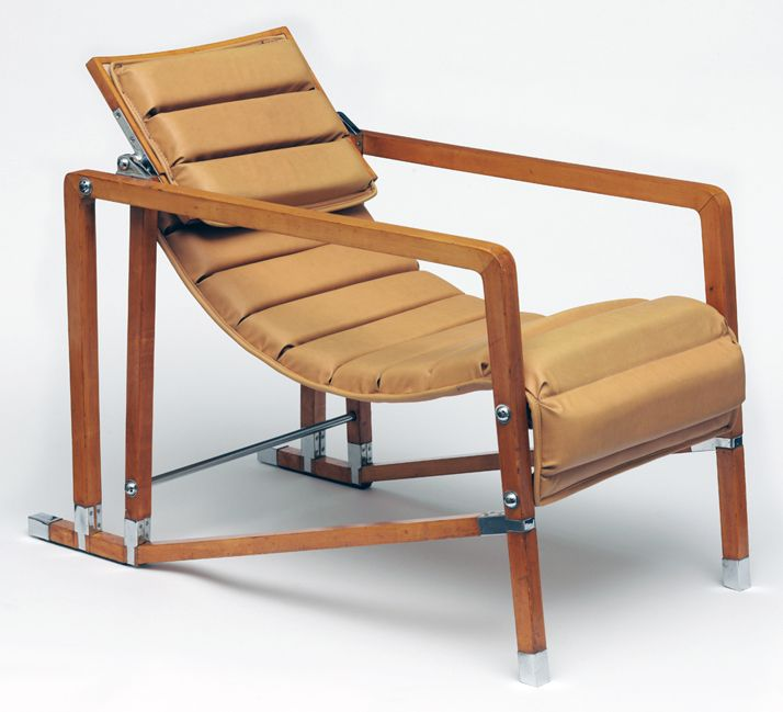 Transat armchair, designed and made by Eileen Gray, before 1929. http://www.yatzer.com/gray-matters