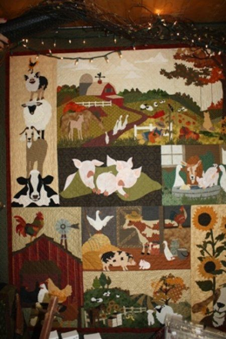 Country Threads :: Animal Quilt Patterns :: Back on the Farm Quilt Pattern Set