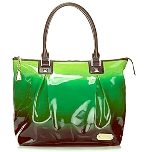 L.A.M.B Manchester green ombré handbag Excellent condition! Measures 18x15x7. Green and black stripe interior lining L.A.M.B. Bags Shoulder Bags