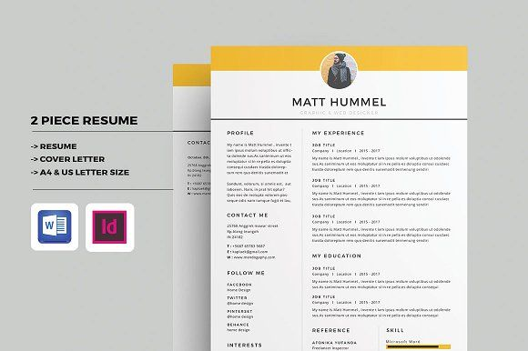 Resume/CV by Occy Design on @creativemarket #resume #cv