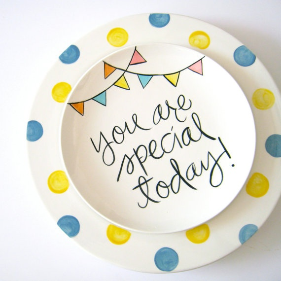 Birthday plates - must make or buy one to start a new tradition in the new house