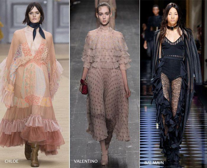 Оборки - модные тенденции на осень/зиму 2016-2017 из Парижа