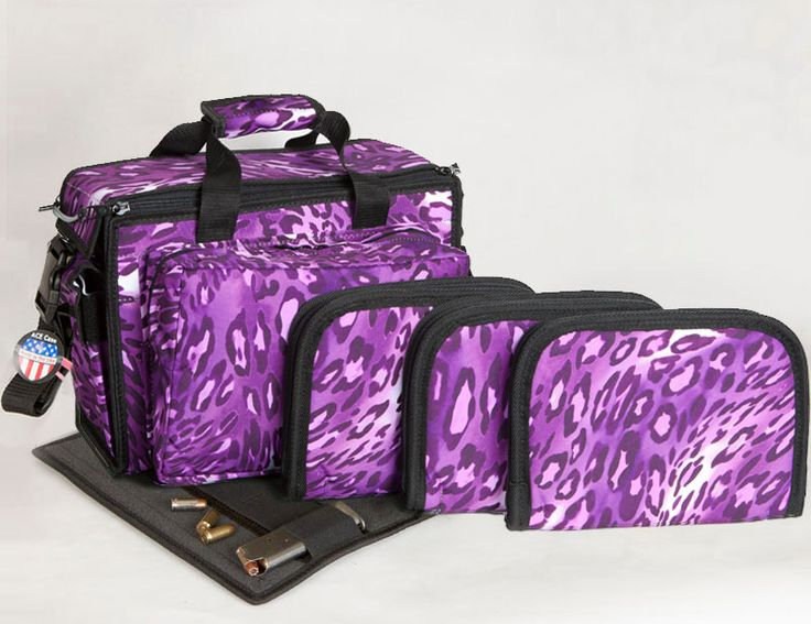 Ladies Deluxe Shooter Range Bag - Patterns  Wish I could find something like this in turquoise!
