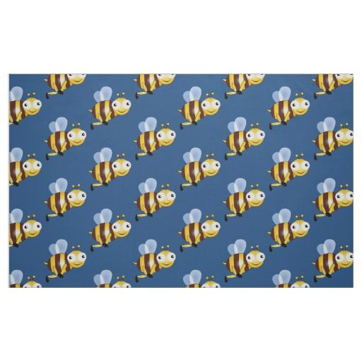 Bee cartoon fabric