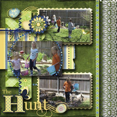 The Hunt, layoutby scrap happyScrapbook Ideas, Easter Hunting, Scrapbook Inspiration, Scrapbook Stuff, Layout Scrapbook, Easter Scrapbook, Easter Layout, Scrapbook Layout, Eggs Hunting