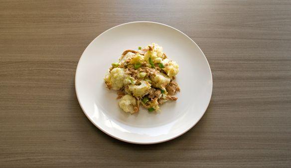 Ik hou van gerechten die maar 1 schotel vuilmaken :-) Dit recept is supersnel klaar en supervoedzaam! Bovenstaande ingrediënten zijn goed voor 3 porties, dat is een beetje een raar getal, ik dacht ...