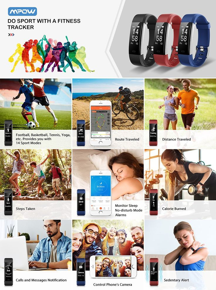 Mpow Smart Fitness Tracker,Smart Bracelet, Heart Rate Monitor, Sleep Monitor,with 14 Exercise Modes, 4 Watch Faces, GPS Route Tracking, Alarms, Notification and Camera Shooting, USB Quick Charge,for iPhone 8/X/7/7Plus/6/6s/6 Plus, Android and iOS Smart Phones for Christmas Gifts and Presents ( Blue ): Amazon.ca: Electronics
