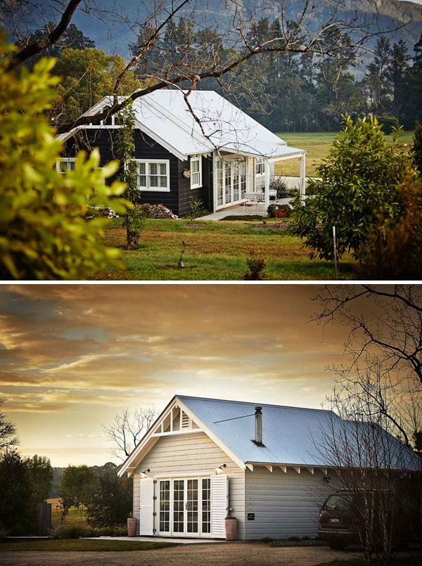 WEEKEND ESCAPE: COTTONWOOD COTTAGE IN AUSTRALIA   THE STYLE FILES.....What a beautiful modern cottage/barn idea