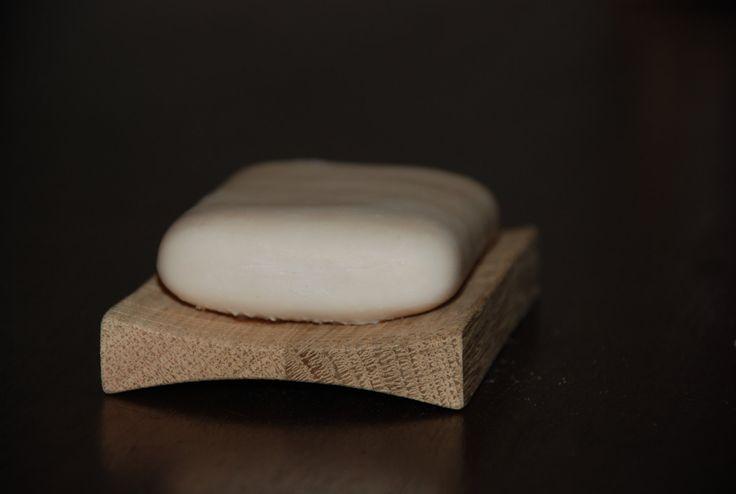 Porte savon support savon salle de bain design minimaliste chêne français fait main de la boutique MiBois sur Etsy
