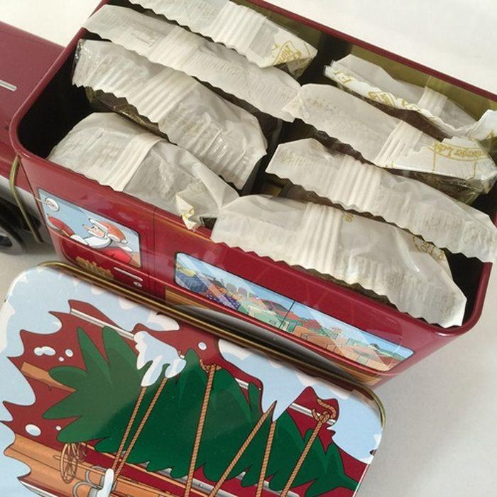 本場ドイツから クリスマスの菓子 レープクーヘン チョコレート。レープクーヘン エクスプレス 200g  レトロな自動車缶 ドイツの クリスマスのお菓子 レープクーヘン 高級エリーゼンレープクーヘン8枚入り 手巻き式 オルゴール付き ※5,400円(税込)以上のお買い上げで送料無料【05P03Dec16】