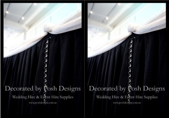 #Blackbridalskirting #whitebridalswagging - #wedding #theming available at #poshdesignsweddings - #sydneyweddings #southcoastweddings #wollongongweddings #canberraweddings #southernhighlandsweddings #campbelltownweddings #penrithweddings #bathurstweddings #illawarraweddings  All stock owned by Posh Designs Wedding & Event Supplies – lisa@poshdesigns.com.au or visit www.poshdesigns.com.au or www.facebook.com/.poshdesigns.com.au #Wedding #reception #decorations #Outdoor #ceremony decorations