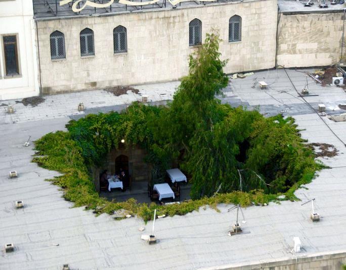 Rooftop cafe, Baku, Azerbaijan