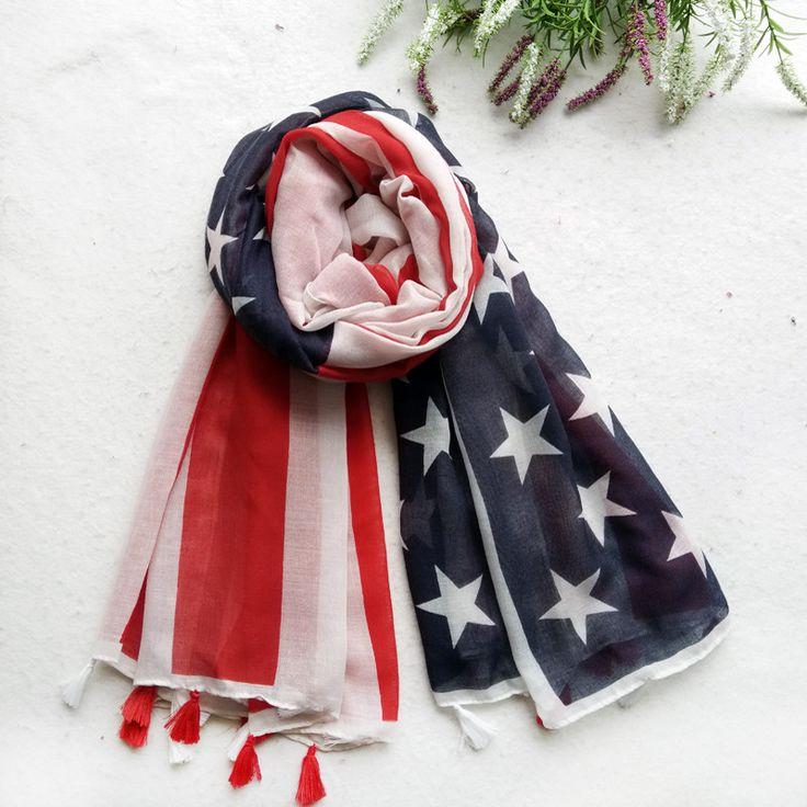 Americana Scarf   Patriotic Hijab