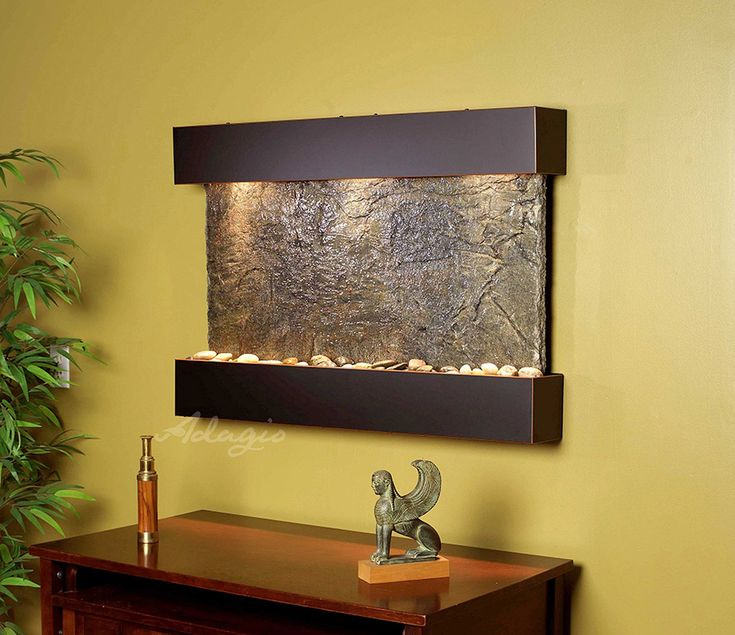 Reflection Creek Wall Fountain with Blackened Copper Trim and Green Slate  Surfac   contemporary   Indoor Fountains   Soothing Company70 best fountains indoor images on Pinterest   Indoor fountain  . Indoor Bedroom Water Fountain. Home Design Ideas