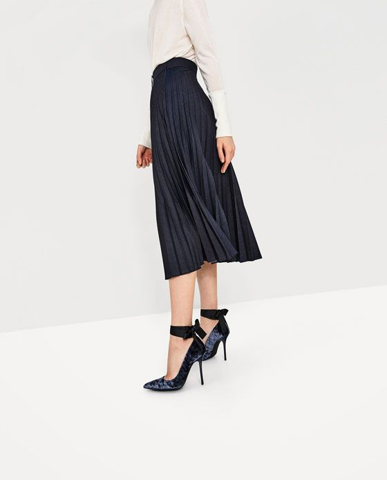 ZARA - WOMAN - VELVET HIGH HEEL SHOES