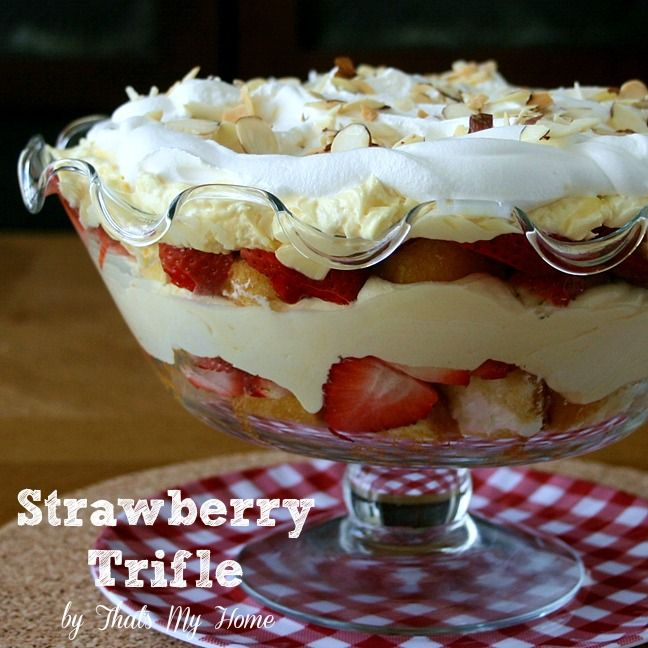 Strawberry Trifle | Recipe | Strawberry Trifle, Trifle Desserts and ...