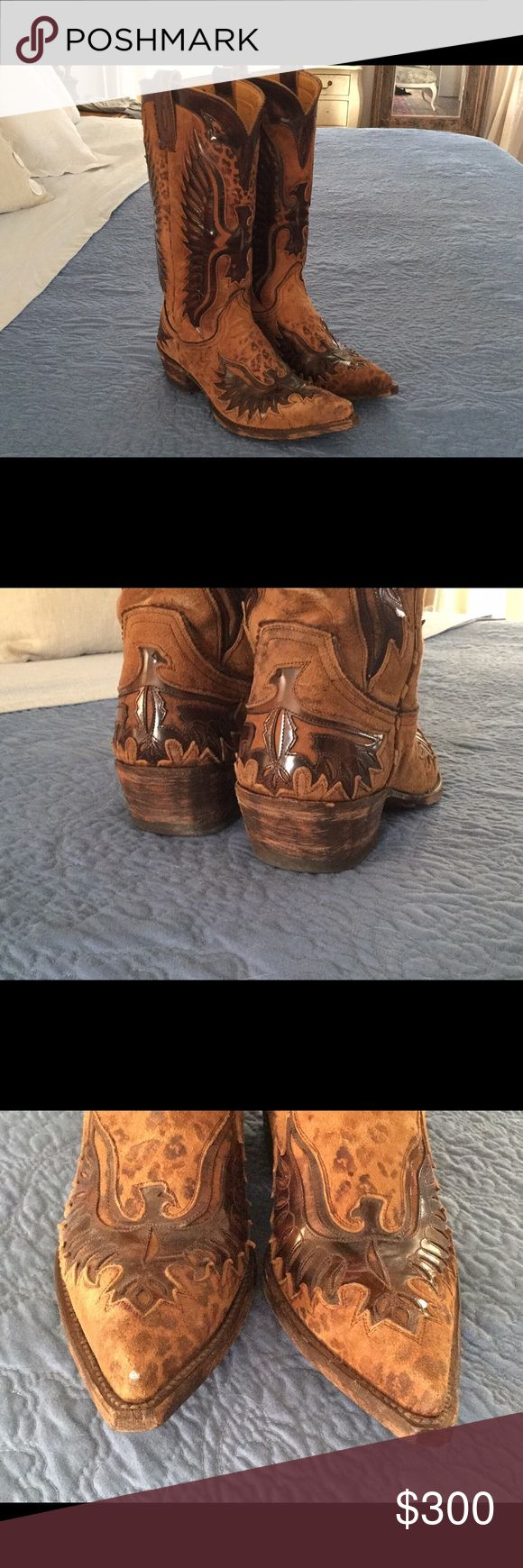 Old Gringo Eagle Boots Old Gringo hand made Eagle boots! Worn a few times. One tiny scuff on toe, see pics. Old Gringo Shoes