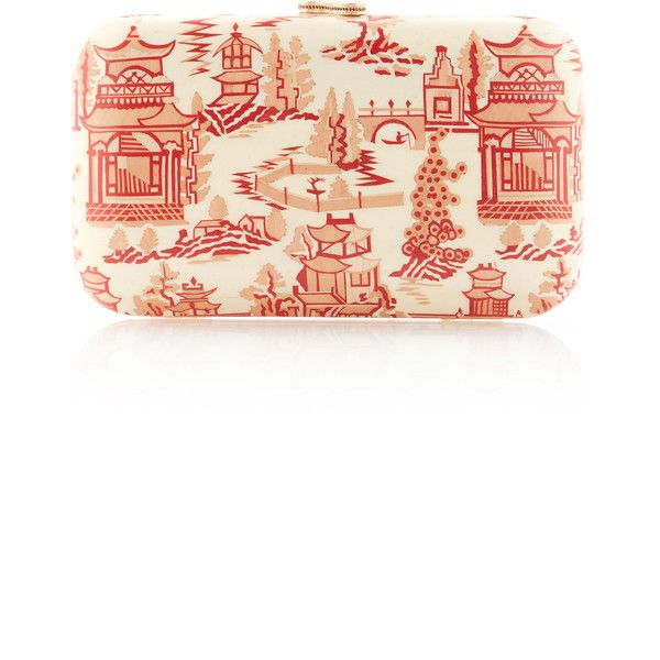 Silvia Furmanovich Marquetry Chinese Temple Clutch ($6,000) ❤ liked on Polyvore featuring bags, handbags, clutches, white handbag, multi colored handbags, multi coloured handbags, multi colored purses and colorful handbags
